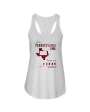 PENNSYLVANIA GIRL LIVING IN TEXAS WORLD Ladies Flowy Tank thumbnail