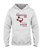 PENNSYLVANIA GIRL LIVING IN TEXAS WORLD Hooded Sweatshirt thumbnail