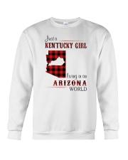 KENTUCKY GIRL LIVING IN ARIZONA WORLD Crewneck Sweatshirt thumbnail