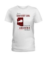KENTUCKY GIRL LIVING IN ARIZONA WORLD Ladies T-Shirt thumbnail