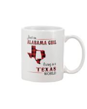 ALABAMA GIRL LIVING IN TEXAS WORLD Mug thumbnail
