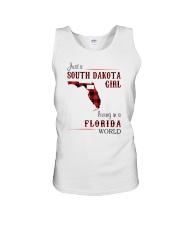 SOUTH DAKOTA GIRL LIVING IN FLORIDA WORLD Unisex Tank thumbnail
