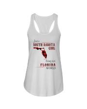 SOUTH DAKOTA GIRL LIVING IN FLORIDA WORLD Ladies Flowy Tank thumbnail