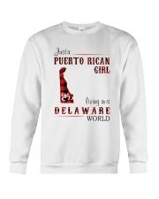 PUERTO RICAN GIRL LIVING IN DELAWARE WORLD Crewneck Sweatshirt thumbnail