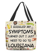 TURNED OUT I JUST NEED TO GO TO LOUISIANA All-over Tote thumbnail