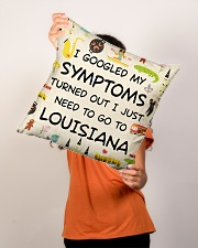 "TURNED OUT I JUST NEED TO GO TO LOUISIANA Indoor Pillow - 16"" x 16"" aos-decorative-pillow-lifestyle-front-02"