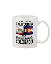 LIVE IN CALIFORNIA BEGAN IN COLORADO Mug thumbnail