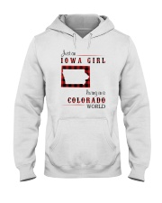 IOWA GIRL LIVING IN COLORADO WORLD Hooded Sweatshirt thumbnail