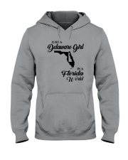 JUST A DELAWARE GIRL IN A FLORIDA WORLD Hooded Sweatshirt thumbnail