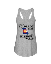 JUST A COLORADO GIRL IN A MISSOURI WORLD Ladies Flowy Tank thumbnail
