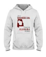 WISCONSIN GIRL LIVING IN ALABAMA WORLD Hooded Sweatshirt thumbnail