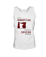 MINNESOTA GIRL LIVING IN OREGON WORLD Unisex Tank thumbnail