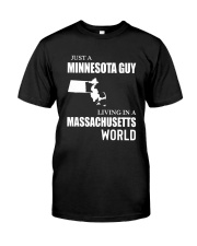 JUST A MINNESOTA GUY LIVING IN MA WORLD Classic T-Shirt tile