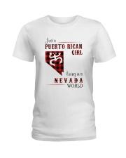 PUERTO RICAN GIRL LIVING IN NEVADA WORLD Ladies T-Shirt thumbnail