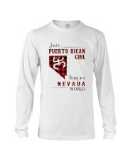 PUERTO RICAN GIRL LIVING IN NEVADA WORLD Long Sleeve Tee thumbnail
