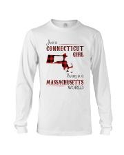 CONNECTICUT GIRL LIVING IN MASSACHUSETTS WORLD Long Sleeve Tee thumbnail