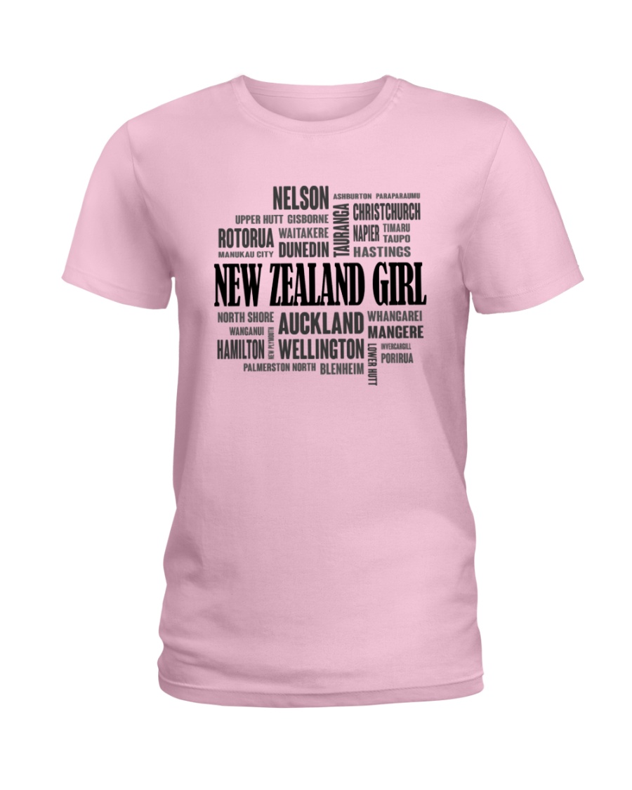 NEW ZEALAND GIRL AND CITY Ladies T-Shirt