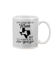 LIFE TOOK ME TO TEXAS BUT I'LL A NEW YORK GIRL Mug tile