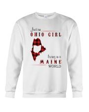 OHIO GIRL LIVING IN MAINE WORLD Crewneck Sweatshirt thumbnail