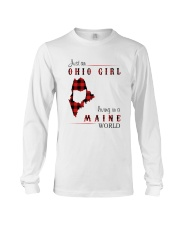 OHIO GIRL LIVING IN MAINE WORLD Long Sleeve Tee thumbnail