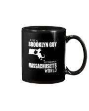 JUST A BROOKLYN GUY LIVING IN MASSACHUSETTS WORLD Mug thumbnail