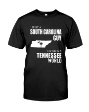JUST A SOUTH CAROLINA GUY LIVING IN TN WORLD Classic T-Shirt tile