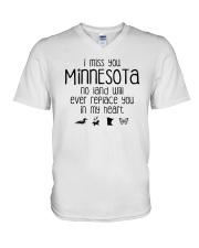 I MISS YOU MINNESOTA V-Neck T-Shirt thumbnail