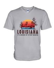 LOUISIANA IT'S WHERE MY STORY BEGINS V-Neck T-Shirt thumbnail