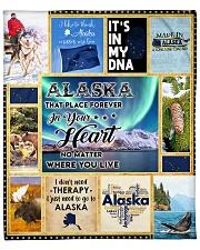 "ALASKA IT'S IN MY DNA Fleece Blanket - 50"" x 60"" thumbnail"
