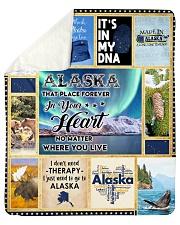 """ALASKA IT'S IN MY DNA Sherpa Fleece Blanket - 50"""" x 60"""" thumbnail"""