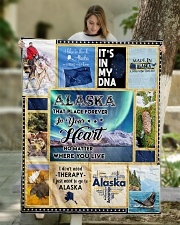 """ALASKA IT'S IN MY DNA Quilt 50""""x60"""" - Throw aos-quilt-50x60-lifestyle-front-01"""