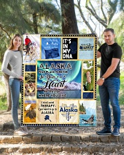"""ALASKA IT'S IN MY DNA Quilt 50""""x60"""" - Throw aos-quilt-50x60-lifestyle-front-04"""