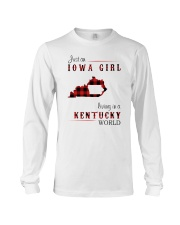 IOWA GIRL LIVING IN KENTUCKY WORLD Long Sleeve Tee thumbnail