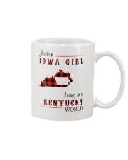 IOWA GIRL LIVING IN KENTUCKY WORLD Mug thumbnail