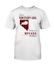 KENTUCKY GIRL LIVING IN NEVADA WORLD Classic T-Shirt front