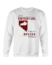 KENTUCKY GIRL LIVING IN NEVADA WORLD Crewneck Sweatshirt thumbnail