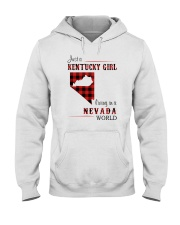 KENTUCKY GIRL LIVING IN NEVADA WORLD Hooded Sweatshirt thumbnail