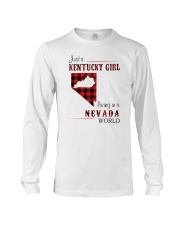 KENTUCKY GIRL LIVING IN NEVADA WORLD Long Sleeve Tee thumbnail