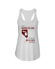 MICHIGAN GIRL LIVING IN NEVADA WORLD Ladies Flowy Tank thumbnail
