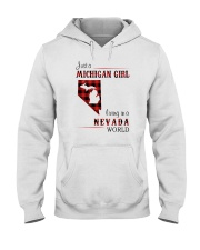 MICHIGAN GIRL LIVING IN NEVADA WORLD Hooded Sweatshirt thumbnail