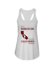 MICHIGAN GIRL LIVING IN CALIFORNIA WORLD Ladies Flowy Tank thumbnail