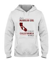 MICHIGAN GIRL LIVING IN CALIFORNIA WORLD Hooded Sweatshirt thumbnail
