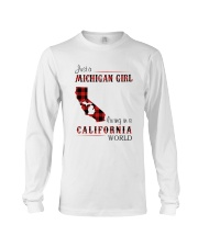 MICHIGAN GIRL LIVING IN CALIFORNIA WORLD Long Sleeve Tee thumbnail