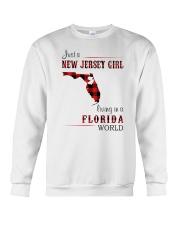 JERSEY GIRL LIVING IN FLORIDA WORLD Crewneck Sweatshirt thumbnail