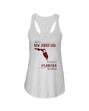 JERSEY GIRL LIVING IN FLORIDA WORLD Ladies Flowy Tank thumbnail