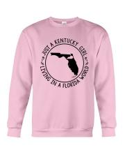 KENTUCKY GIRL LIVING IN A FLORIDA WORLD Crewneck Sweatshirt thumbnail