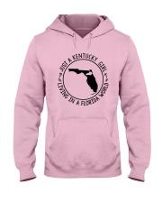 KENTUCKY GIRL LIVING IN A FLORIDA WORLD Hooded Sweatshirt front