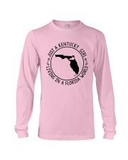KENTUCKY GIRL LIVING IN A FLORIDA WORLD Long Sleeve Tee thumbnail