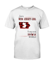 JERSEY GIRL LIVING IN IOWA WORLD Classic T-Shirt front