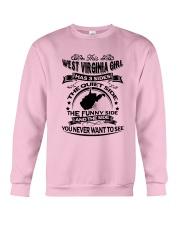 THIS WEST VIRGINIA GIRL HAS 3 SIDES Crewneck Sweatshirt thumbnail
